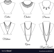 necklace types images Choker necklace vector images 49 jpg