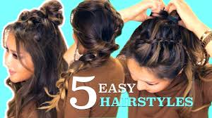 26 lazy hairstyling hacks 5 lazy easy hairstyles cute summer braids youtube
