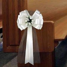 pew decorations for weddings pew bows ebay