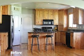 White Knotty Alder Cabinets White Painted Kitchen Cabinet Reveal With Before And After Photos