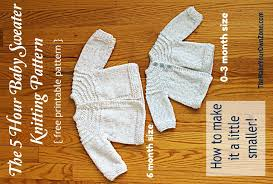 5 hour knit baby sweater a little smaller the make your own zone