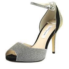 nina caddie women us 6 silver peep toe heels nwob 1681 ebay