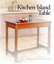 kitchen island table plans portable kitchen island plans woodarchivist