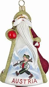glitterazzi austrian austria santa polish glass christmas ornament