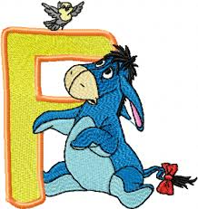 eeyore letter f free embroidery news free machine embroidery