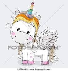 imagenes de unicornios en caricatura clipart lindo caricatura unicornio k49865455 buscar clip art