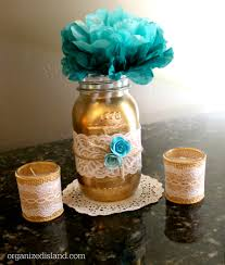 jar centerpieces bridal shower jars