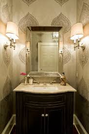 seabrook wallpaper powder room traditional with baseboards