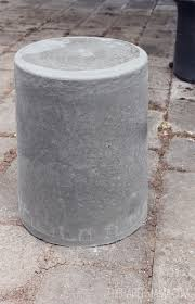 Concrete Side Table Outdoor Concrete Stool Or Table Diy Bhg Style Spotters