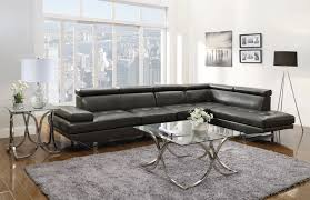 Charcoal Sectional Sofa Piper Collection 503029 Charcoal Sectional Sofa Leather Black