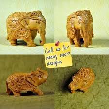 indian carved elephant amazing wood carving komoli craft