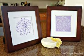 silhouette sketch pens peony prints two purple couches