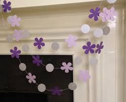 Sofia Decorations Sofia The First Inspired Birthday Garland Purple Flowers Paper