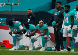 The National by 3 Miami Dolphins Kneel In Protest Saints Kneel Before National