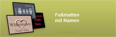 fuãÿmatte selbst designen personalisierte fußmatte mit namen fußmatten personalisieren