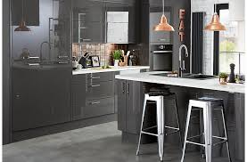 gray gloss kitchen cabinets cooke lewis raffello high gloss anthracite slab diy at b q