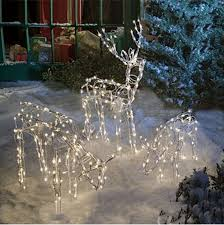 lawn reindeer with lights animated lighted reindeer family set 3 christmas yard decoration
