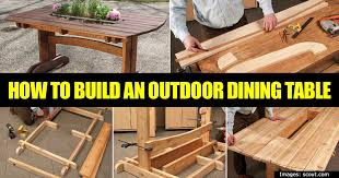 how to make an outdoor table how to build a simple outdoor table for dining