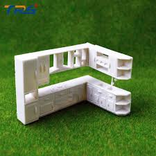 1 50 modern house inner layout scale model kitchen cabinet plastic