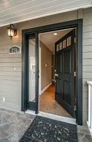 Traditional Exterior Doors Traditional Front Door With Exterior Tile Floors Glass Panel