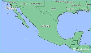 map of mexico and california where is tijuana mexico tijuana baja california map