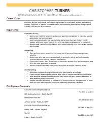 resume templates customer service customer service cv examples cv