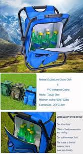 3 in 1 outdoor portable multifunctional foldable cooler bag chair