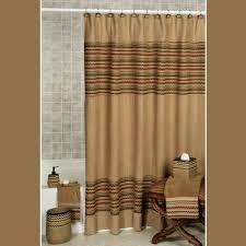 waves chevron southwest shower curtain