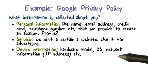 example google privacy policy youtube