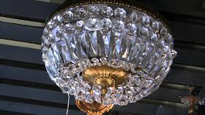 Flush Mount Stained Glass Ceiling Light Antique Light Flush Mount Italian Light 1950 U0027s Era Youtube