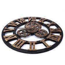 17 7 inch 3d large retro decorative wall clock big art gear