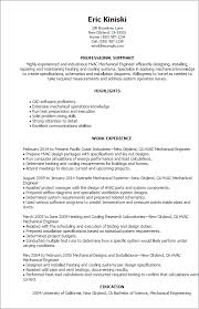 Resume Format For Mechanical Professional Hvac Mechanical Engineer Templates To Showcase Your