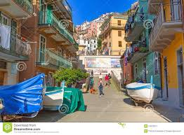 Manarola Italy Map by People Walking On The Street Of Manarola Village In Italy