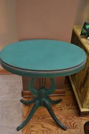 Accent Side Table Antique Wood Harp Accent Side End Table Shabby Distressed Emerald