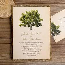 layered wedding invitations green tree burlap layered wedding invitations ewls018 as