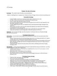 ap psychology prologue the study of psychology mind