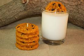 chococlate chip cookies and milk candle set chocolate chip