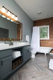 Dark Grey Accent Wall by The Ultimate Fixer Upper Inspired House Color Palette Hgtv U0027s
