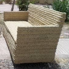 canapé en canapé en osier et rotin salon de marrakech maroc