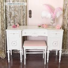 Vanity Table And Bench Set Furniture Antique White Vanity Desk With Bench Set Best
