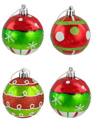 christmas pattern red green assorted red green silver pattern baubles 6 x 60mm christmas