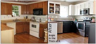 How To Paint Kitchen Cabinets White Without Sanding Painted Kitchen Cabinets White Upper Black Lower Painting Kitchen