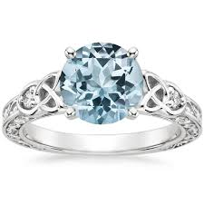 aquamarine wedding rings aquamarine engagement rings brilliant earth