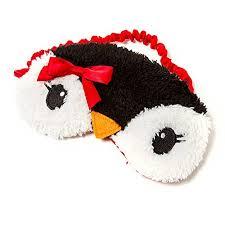 sleep accessories amazon com claire s accessories fuzzy penguin sleep mask
