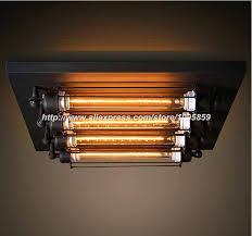 heat l ceiling fixture ceiling mount lights industrial vintage square punk ceiling light l