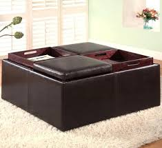 Square Leather Ottoman With Storage Fashionable Leather Ottoman Storage Taptotrip Me