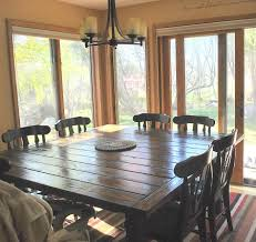 Square Dining Room Tables For 8 Diy Square Dining Table Diningroom Perfection Being Married