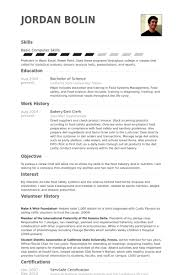Resume Skills And Interests Examples by Baker Resume Samples Visualcv Resume Samples Database