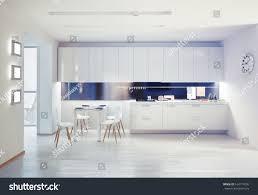 modern kitchen interior design concept stock illustration