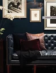 Blue Chesterfield Leather Sofa by How To Decorate A Living Room With A Black Leather Sofa Navy
